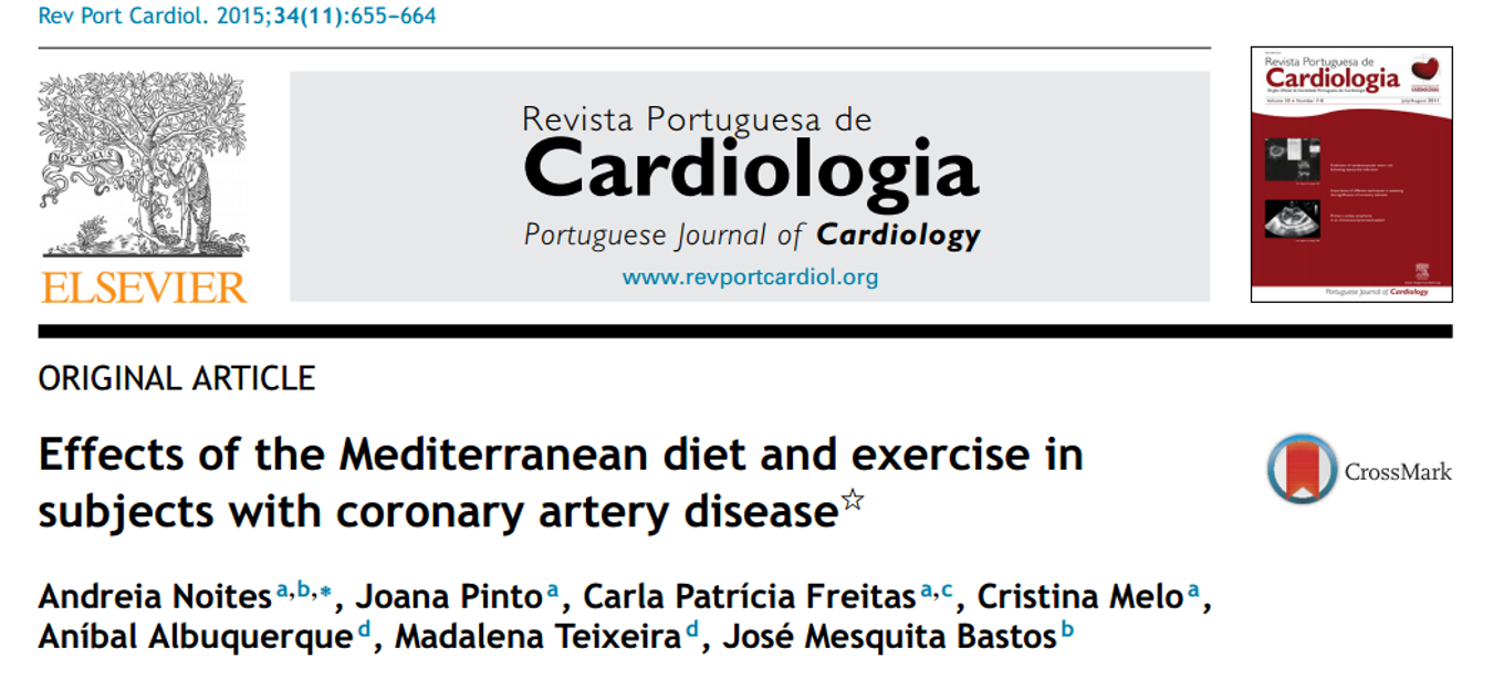 Effects of the Mediterranean diet and exercise in subjects with coronary artery disease