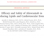 Efficacy and Safety of Alirocumab in Reducing Lipids and Cardiovascular Events