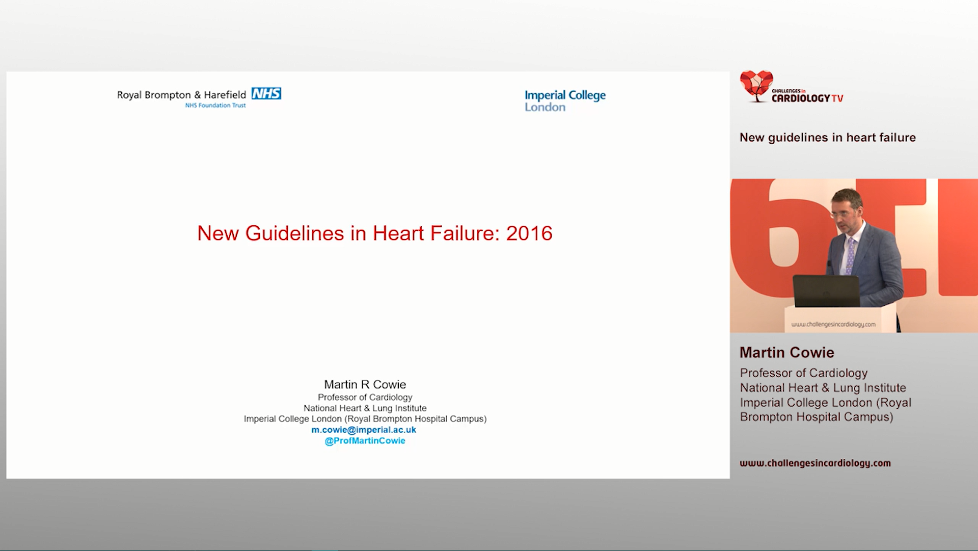 Martin Cowie - 6th Challenges in Cardiology