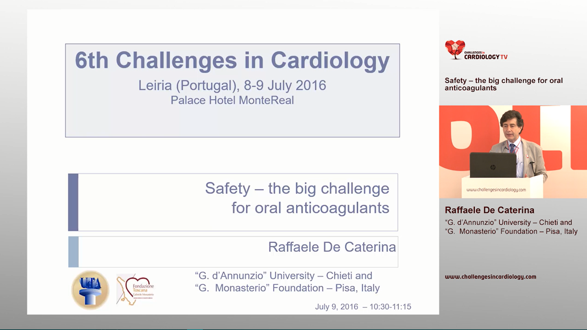 Safety - the big challenge for oral anticoagulants - Raffaele De Caterina