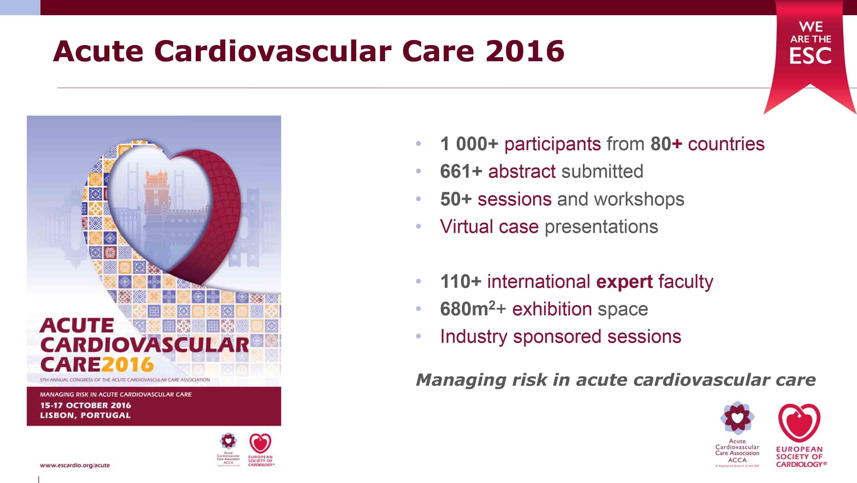 Acute Cardiovascular Care 2016