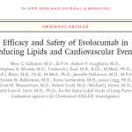 Efficacy and Safety of Evolocumab