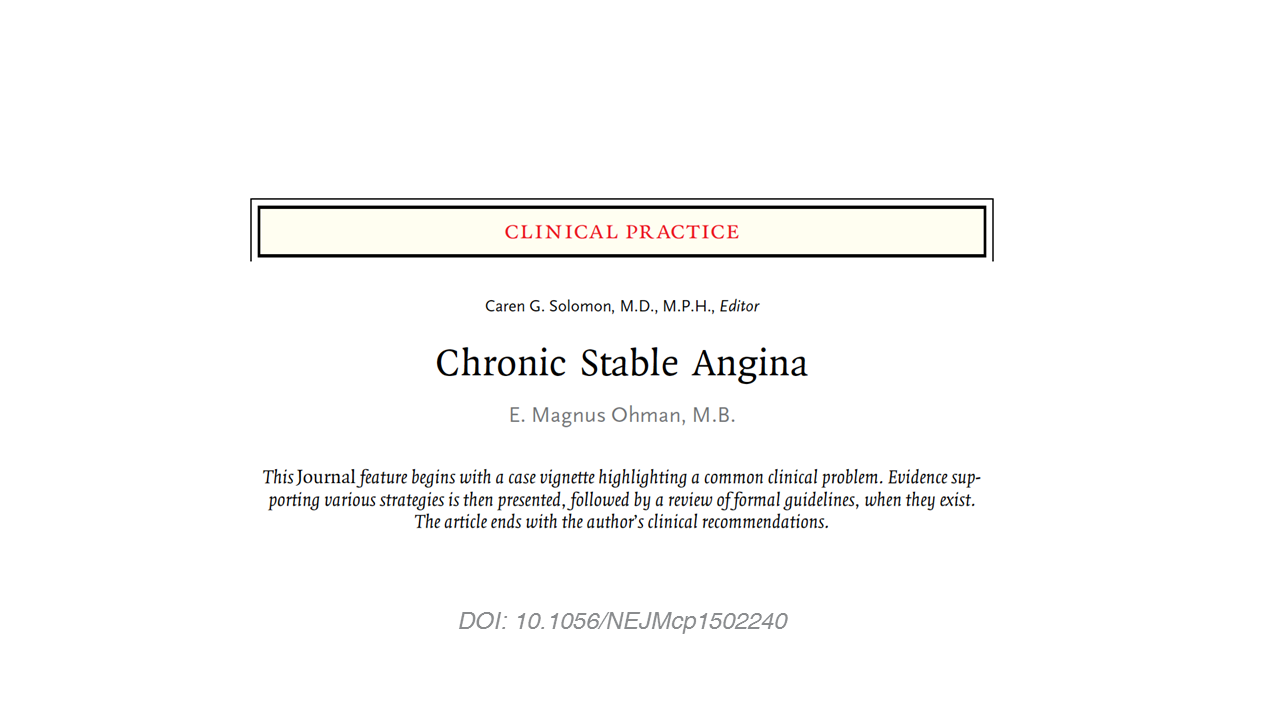 Chronic Stable