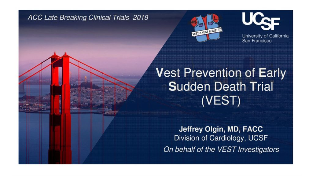 Vest Prevention of Early Sudden Death Trial (VEST